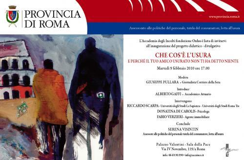 convegno usura provincia roma