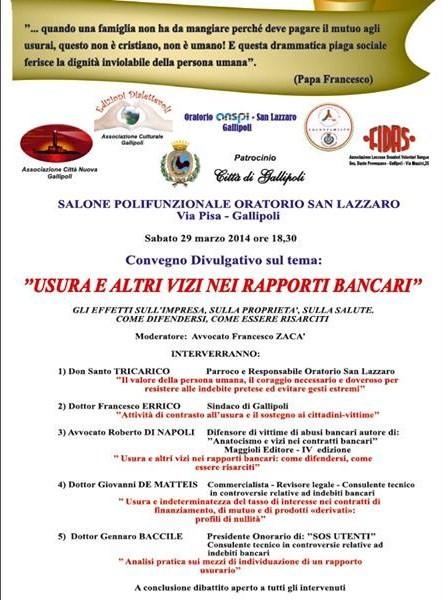 locandina convegno Gallipoli 29 Marzo 2014