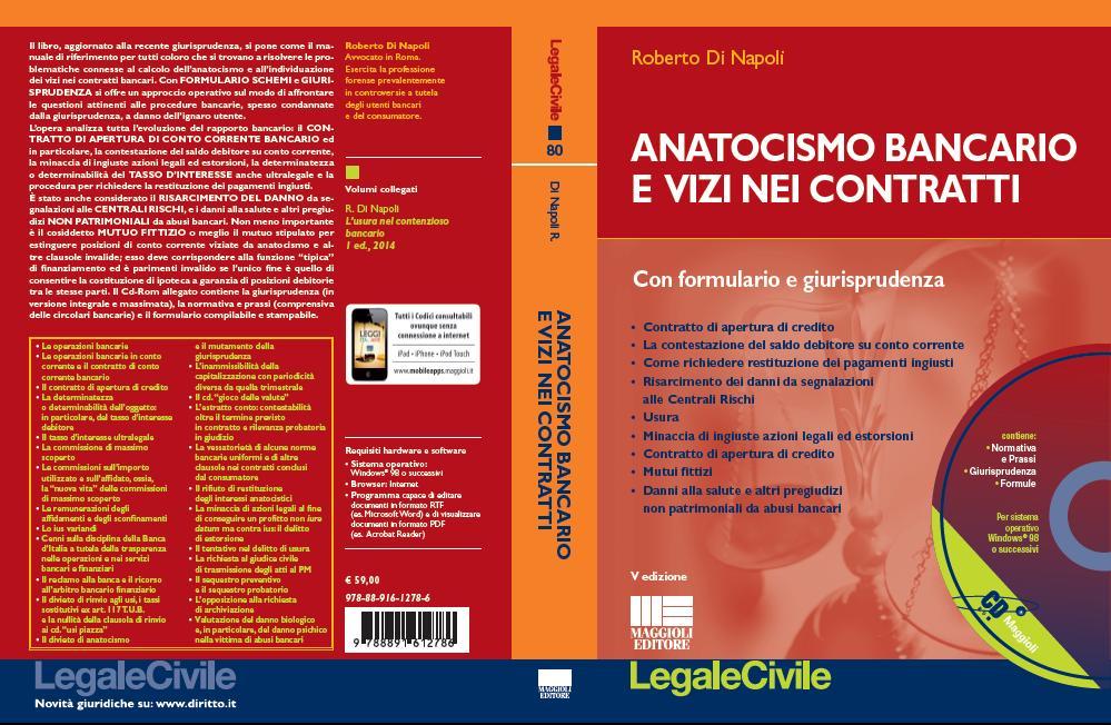 copertina Anatocismo bancario e vizi nei contratti V edizione