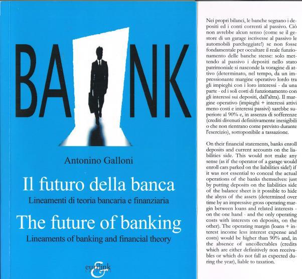 copertina Bank di Antonino Galloni