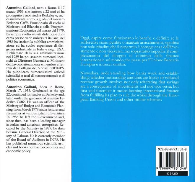 quarta copertina Bank di Antonino Galloni