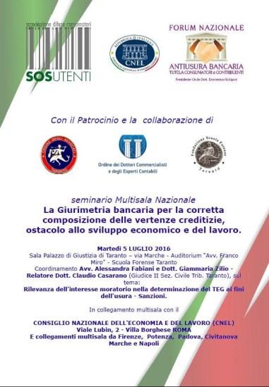 locandina convegno multisala Taranto 5 luglio 16