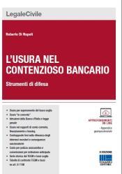 """copertina """"L'usura nel contenzioso bancario"""" II edizione"""