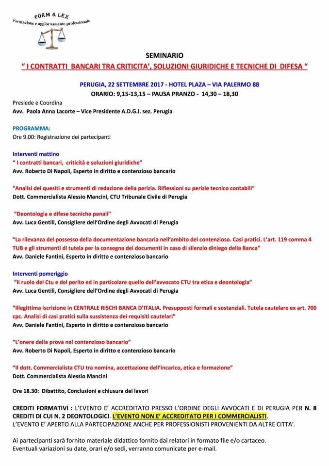 locandina master Perugia 22 settembre 17