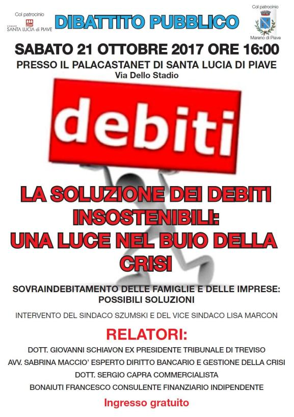 convegno su soluzione debiti Santa Lucia di Piave