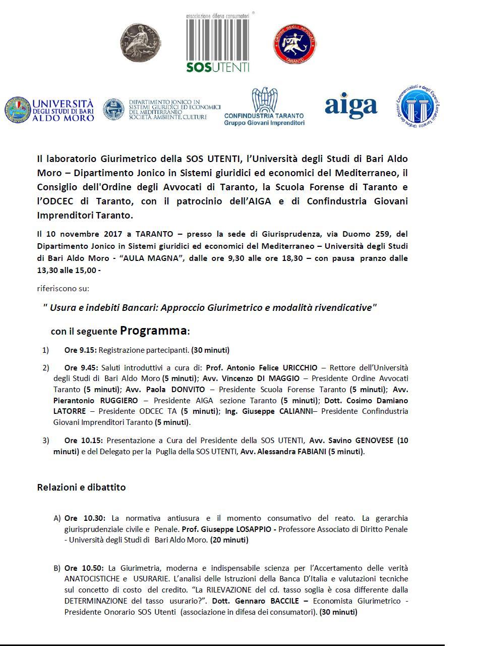 locandina seminario Taranto 10 novembre 17 1