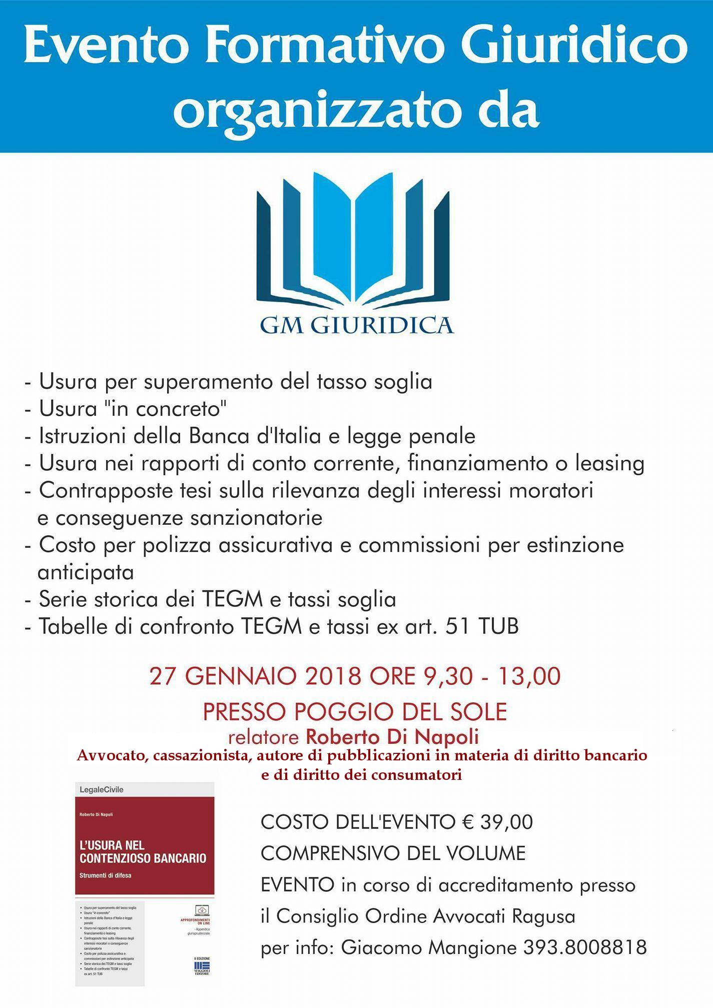 locandina seminario Ragusa 27 gennaio 2018