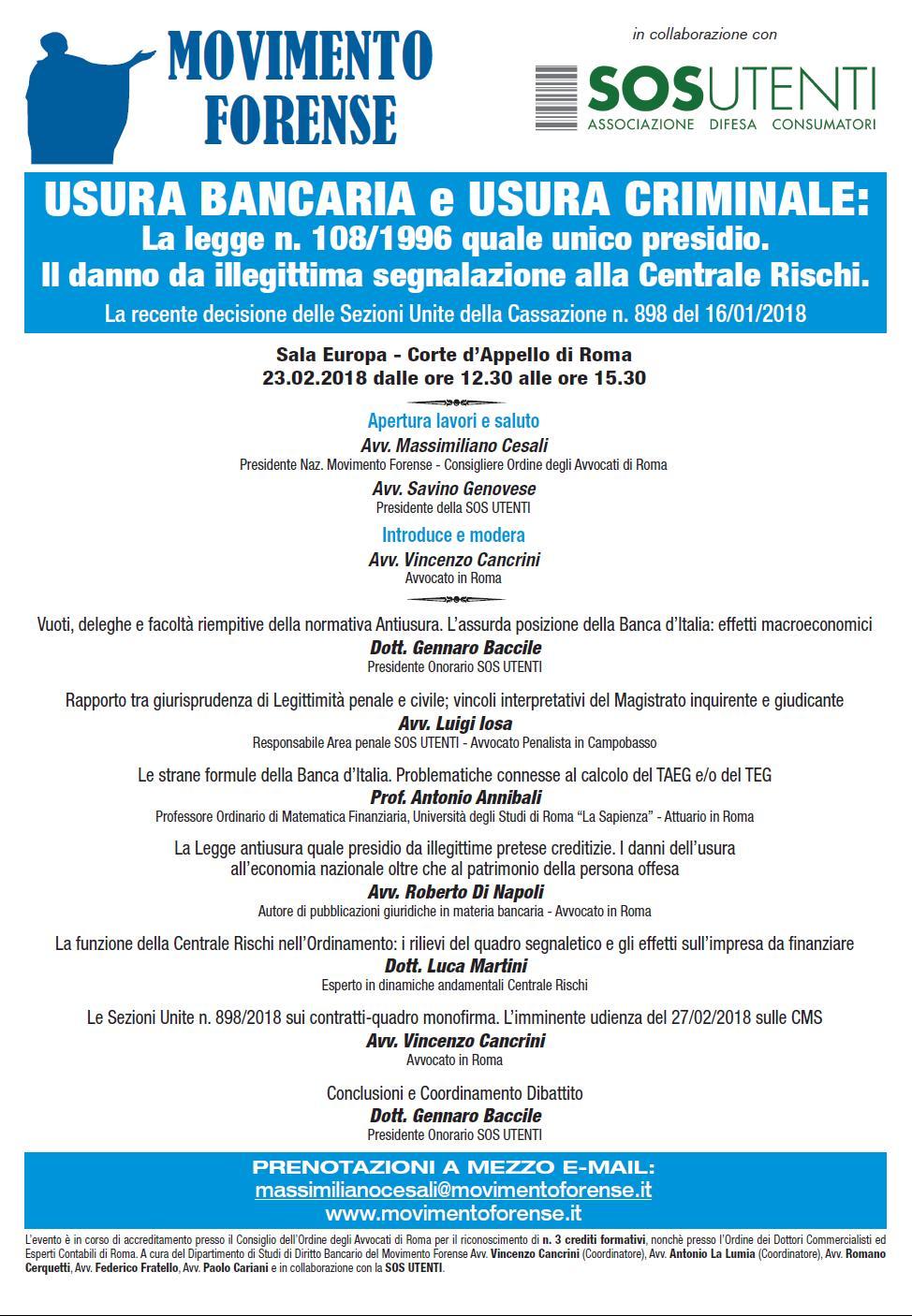 locandina convegno Roma 23 febbraio 2018