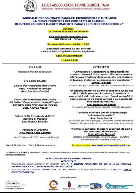locandina convegno 26 ottobre 2018